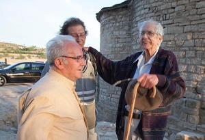 Jaume Ferran amb els activistes culturals Miquel Pont i Ramon Ràzquin. (2011)